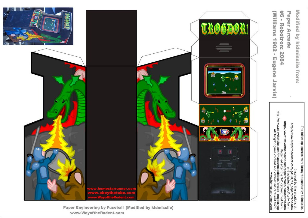 Trogdor paper arcade cabinet | Old image I moved over from m… | Flickr