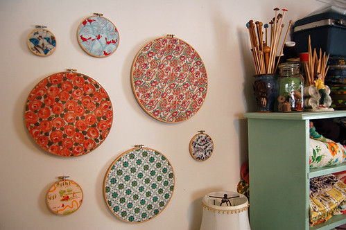 fabric hoops   by SouleMama