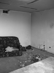 Abandoned Couch bw