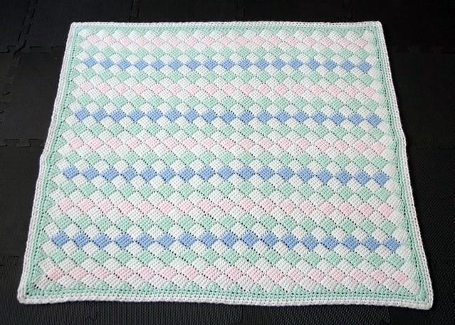 Tunisian Crochet Baby Blanket Full Size Pattern Basic Flickr
