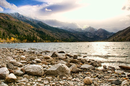 Rocky Lakeshore and Mountains | by donjd2