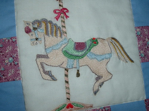 Hand-embroidered carousel | by Vianna_M