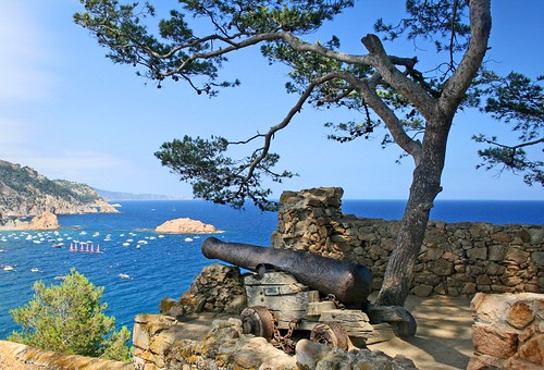 Guarding the Harbor in Tossa de Mar, Spain | by Andrew E. Larsen