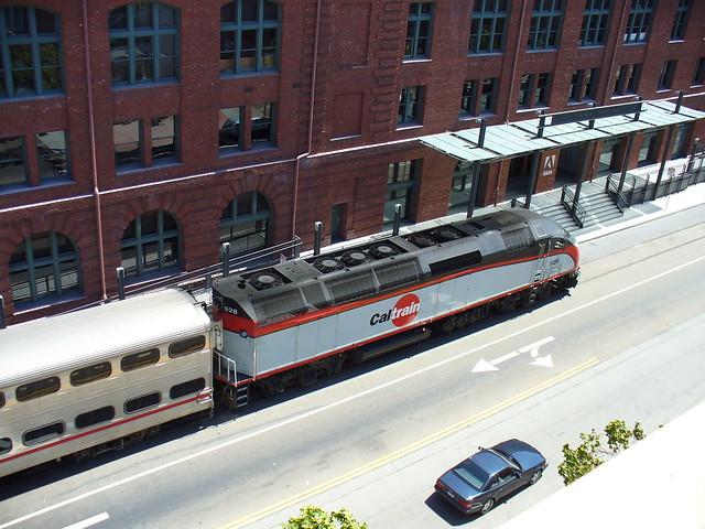 train on street! 2