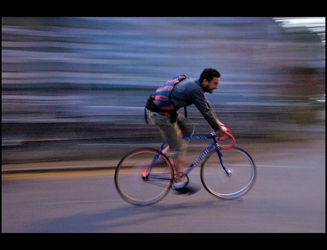 passionate bike messenger