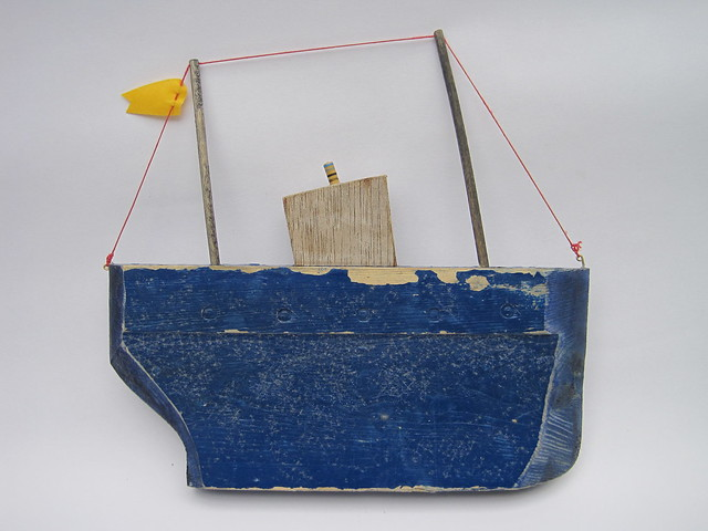 Destressed blue liner