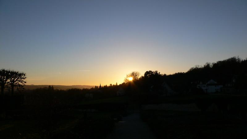 Evening view towards West