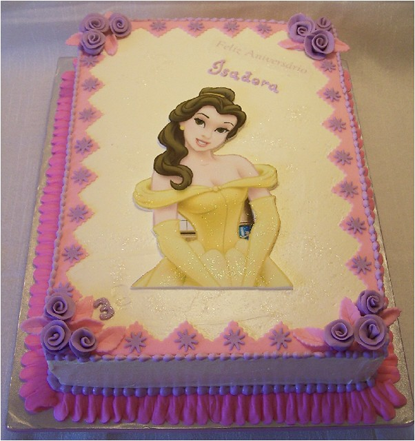 Amazing Princess Belle Cake Cake Is Covered With Traditional Vanil Flickr Funny Birthday Cards Online Kookostrdamsfinfo