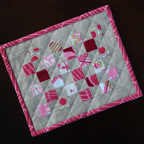 Tiny Squares Mug Rug {Front} | by Mary1602