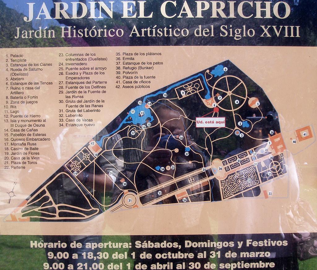 Parque Del Capricho Mapa.Plano Parque El Capricho Vuela Hasta Este Sitio Fly To