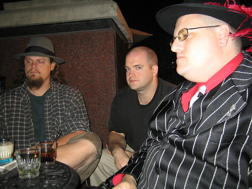 jason williams, evan (lastname?), pimped out jeremy lassen in one of many evenings on the hotel patio