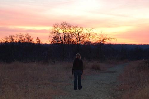 sunset cold beautiful walking trail miles