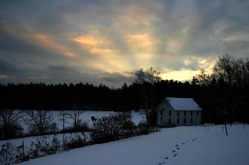 winter sunset snow pond newhampshire newyearseve dancehall graftonpond