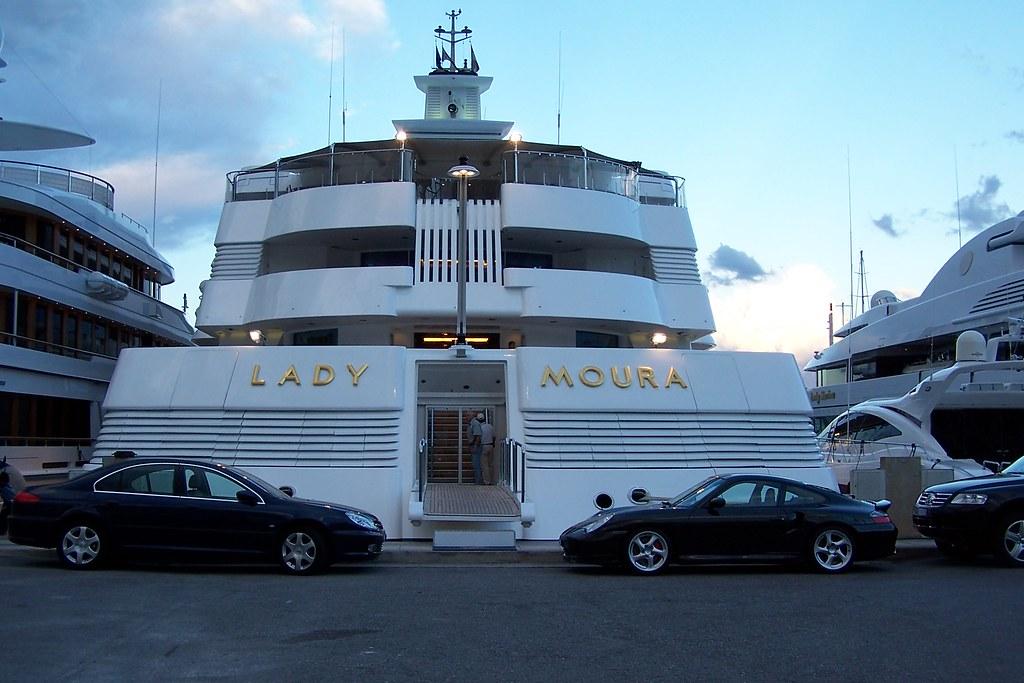 Lady Moura Die Lady Moura Im Hafen Von Monaco Die Yacht D Flickr