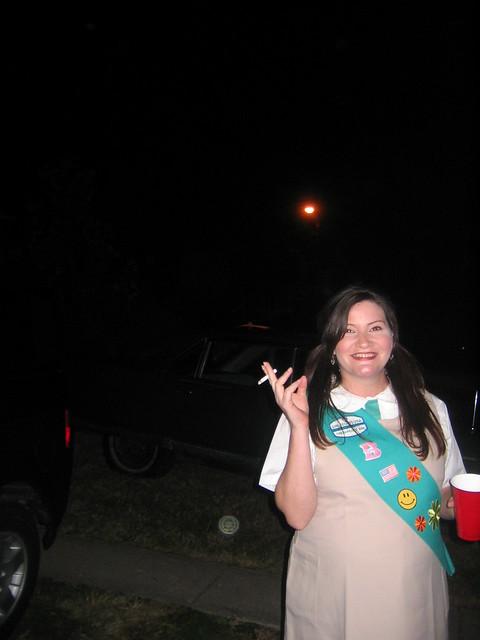 Haloween_2005_Baltimore_039_Smoking_Pregnant_girl_scout_Shelly