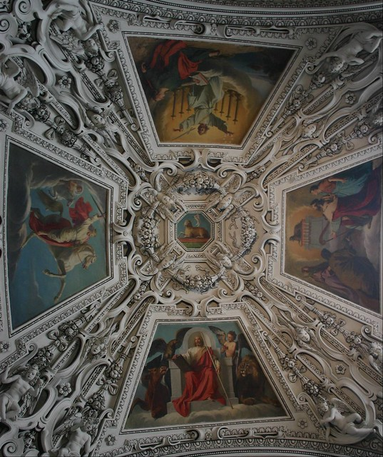 Ceiling art in Salzburg Cathedral, Austria