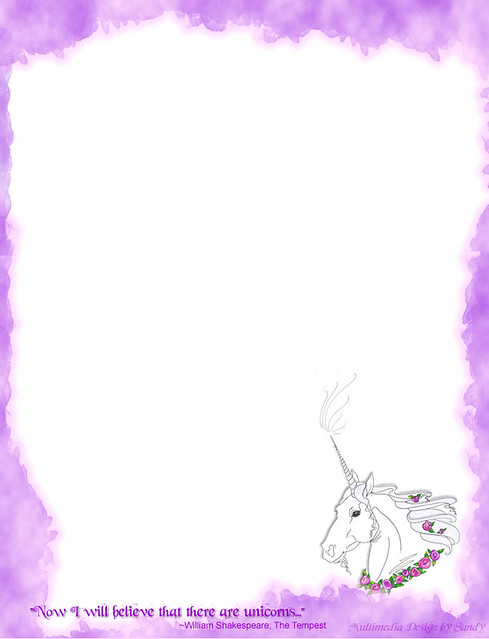 picture about Printable Sationary referred to as Unicorn Stationery For the no cost printable stationery sizing