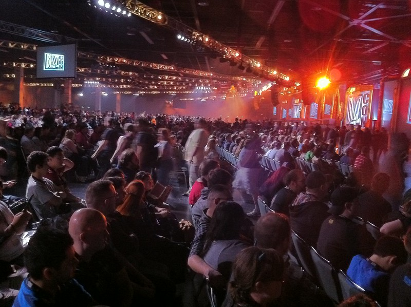 StarCraft ghost costumes and a massive crowd for the #BlizzCon opening ceremony