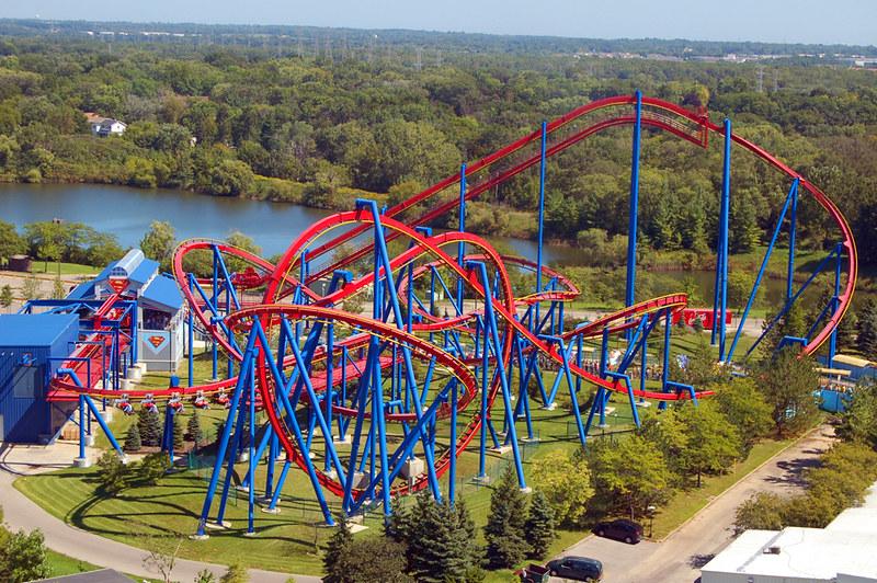 Superman rollercoaster