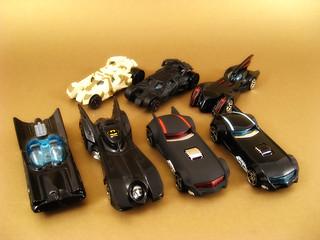 Hotwheels Batmobiles Collection