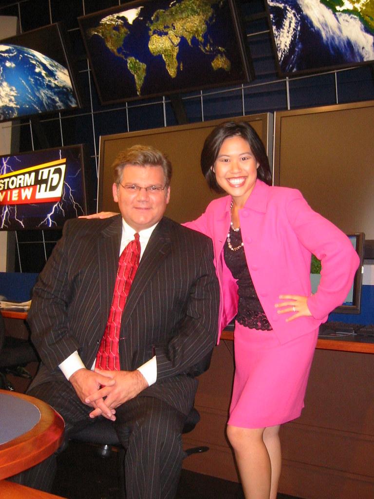Meteorologist Paul Emmick & Julie Tam | weather set, WDRB-TV