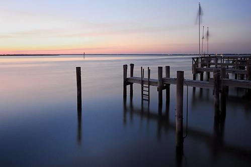 sunset summer water bay pier newjersey dock dusk nj stoneharbor