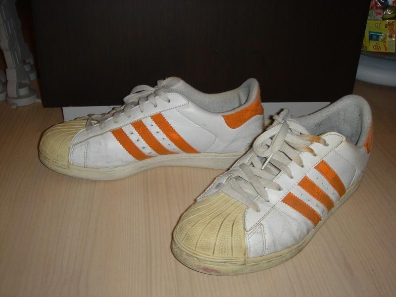 adidas - Superstar (orange stripes) - a