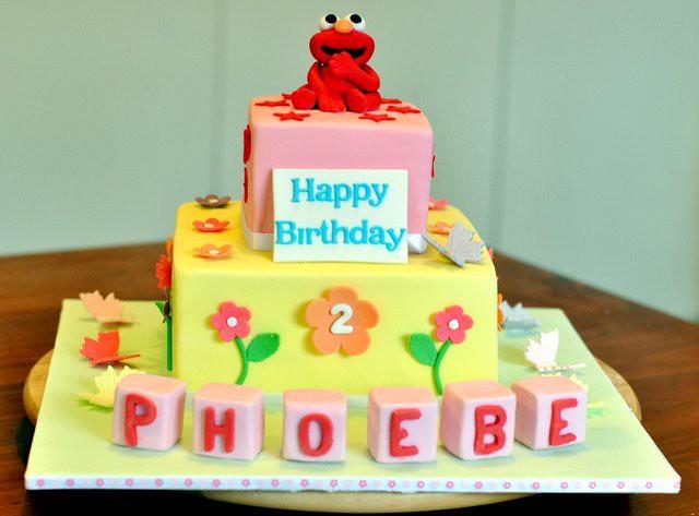 Surprising Elmo Birthday Cake Pretty Cute Cakes Flickr Funny Birthday Cards Online Necthendildamsfinfo