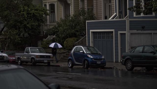 Rain in lower pac heights.  San Francisco (2010)