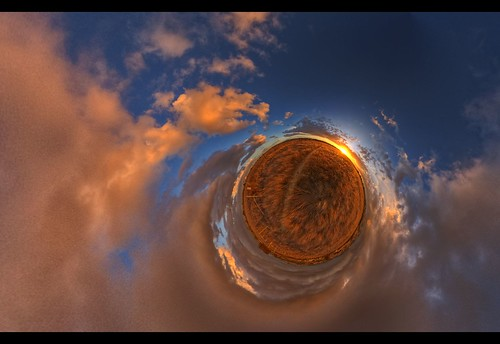 world sunset sky panorama storm field grass clouds globe little dramatic straw orb projection planet wee hay hdr stereographic photomatix tonemapped 3exp nodalninja hdrpanorama weekendamerica