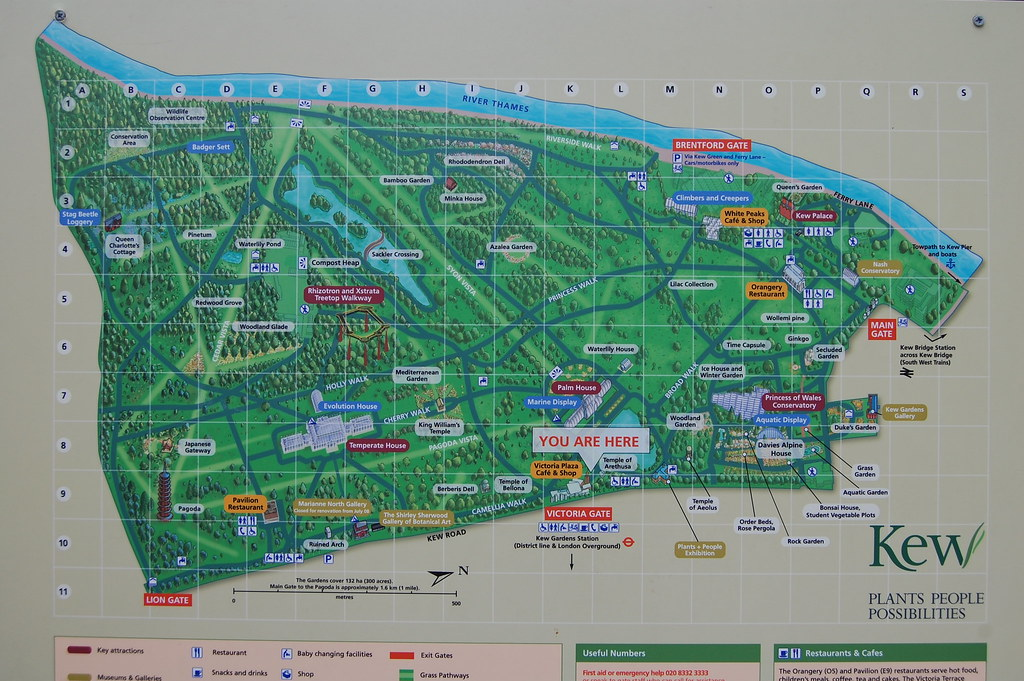 Kew Gardens Map You are here! Map of Kew Gardens | Steve Poole | Flickr