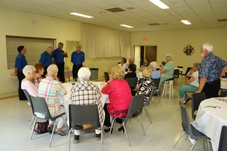 Glenna planned a lovely social for our veteran retirees.  Entertainment was provided by Doran and his Barbershop Quartet.   Thanks Glenna for always being so caring!