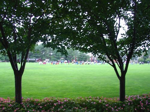 Soccer in the Rain