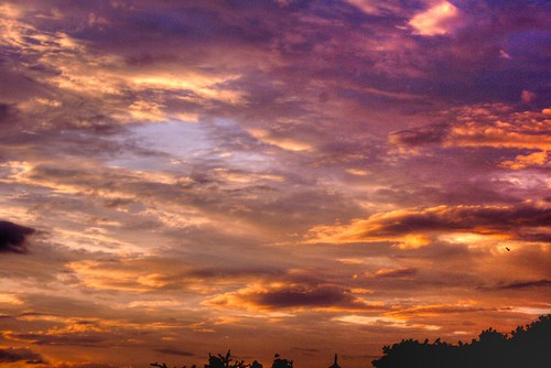 sunset sky evening pune hdr