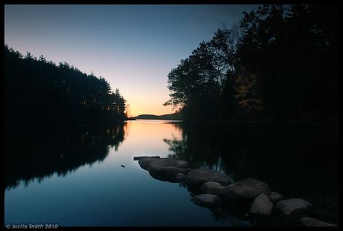 water silhouette sunrise nikond50 justinsmith fitchburgma leefilters nikon1735mmf28 lovellreservoir
