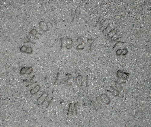 Sidewalk  Marker - 1927