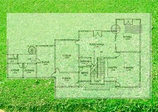 cipete 2: gambar layout/denah rumah tinggal (mewah) lantai