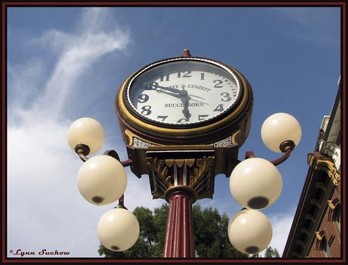 usa clock washington downtown historic mainst washingtonstate wallawalla