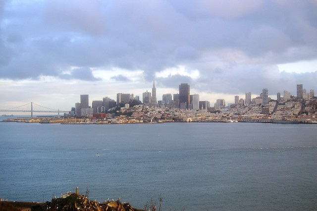 A nice view of the city from Alcatraz