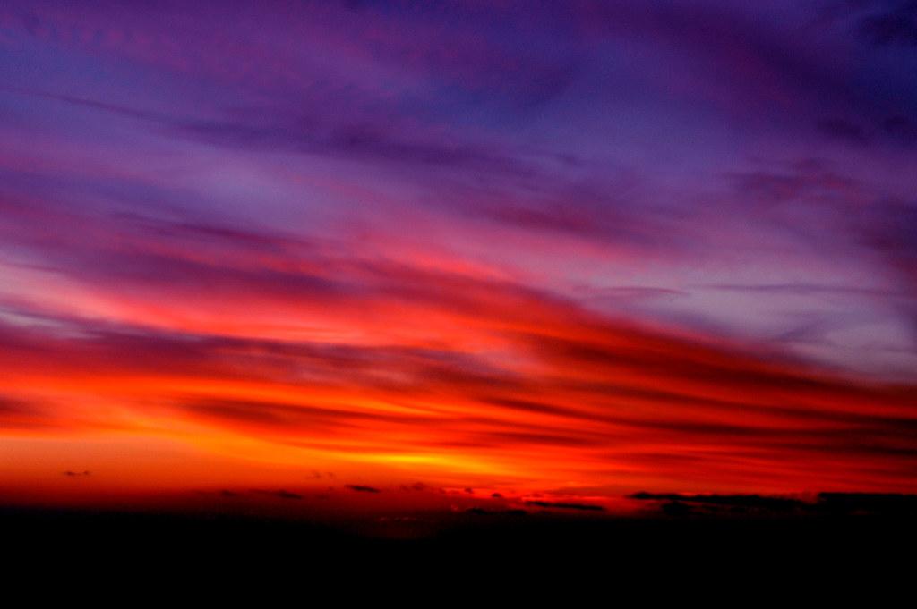 Purple Orange, Somerset, NJ | Above the clouds near ...