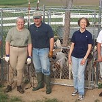 Nancy Olkon, Lisa Foster, Cindy Piper, Jon Martinson, Wendy Powell and Sue Mills at kennels spring 06