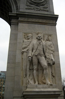 NYC - Greenwich Village: Washington Square Arch - George Washington Accompanied by Wisdom and Justice | by wallyg