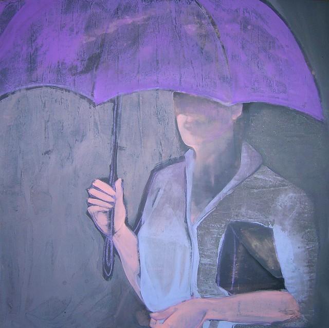 L'ombrello viola (pioggia)