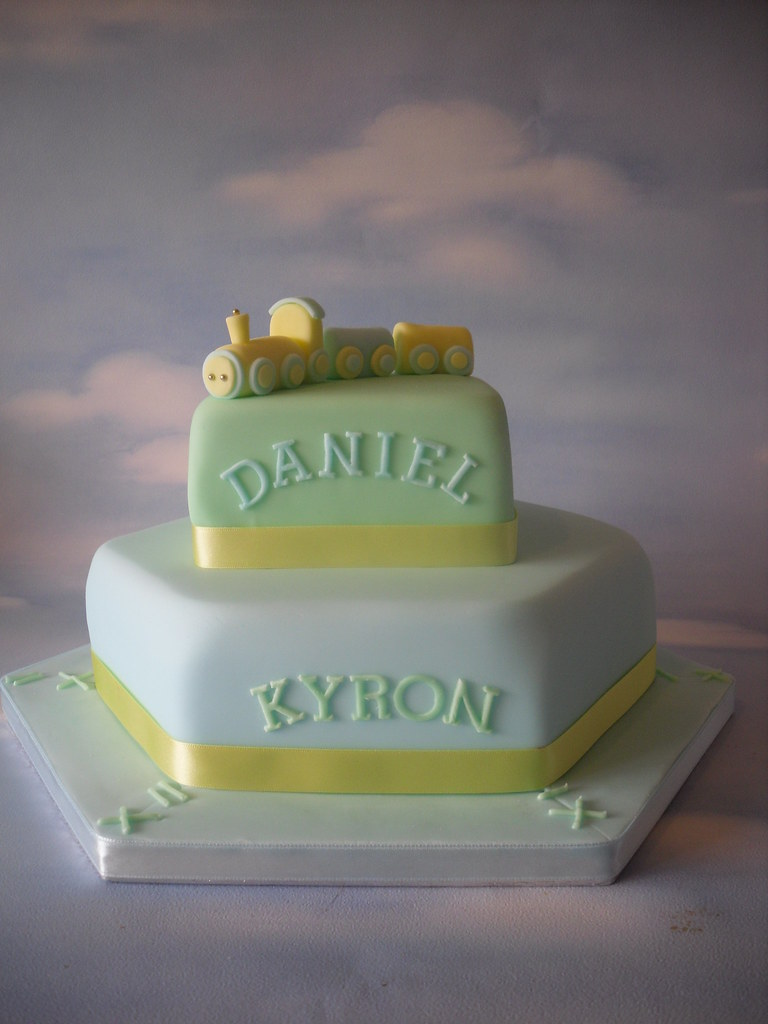 Twin Boys 1st Birthday Cake
