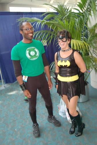 Comic Con 2007: Green Lantern and Bat Woman