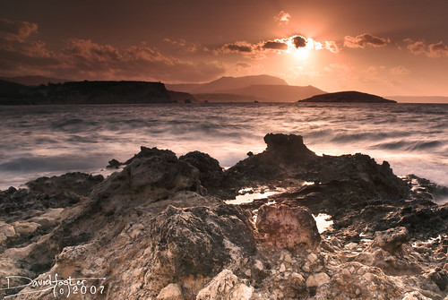 ocean sunset sea rocks foo crete feed davidfoster mologo outstandingshots