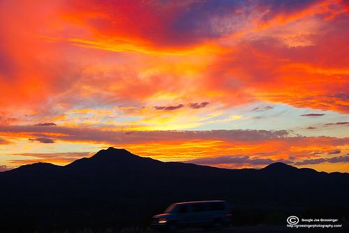 blue sunset red arizona sky white black mountains yellow photography texas joe el lila paso grossinger