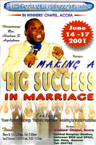 making a big success in marriage