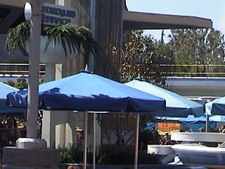 Tomorrowland Terrace, view from Innoventions, Tomorrowland, Disneyland®, Anaheim, CA, 2007.05.11 15:20