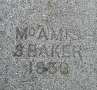 Sidewalk Marker - 1953